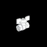 """Кран шаровый Royal Thermo EXPERT для газа 3/4"""" вн-вн, ручка-бабочка"""